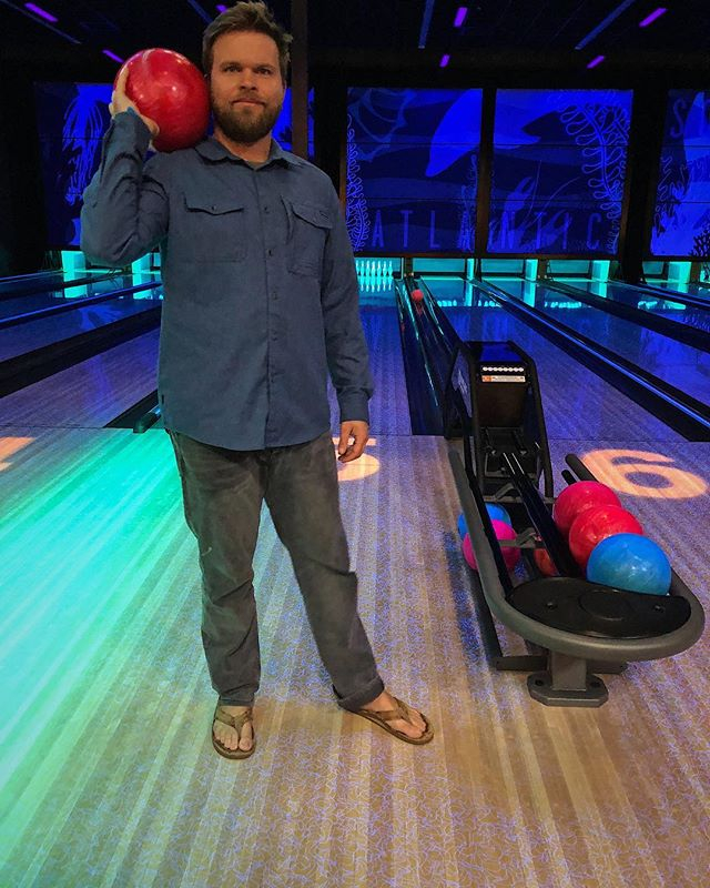 When you're so Brunswick it's rediculous. Kingpin in training. 🍺🍸🎳