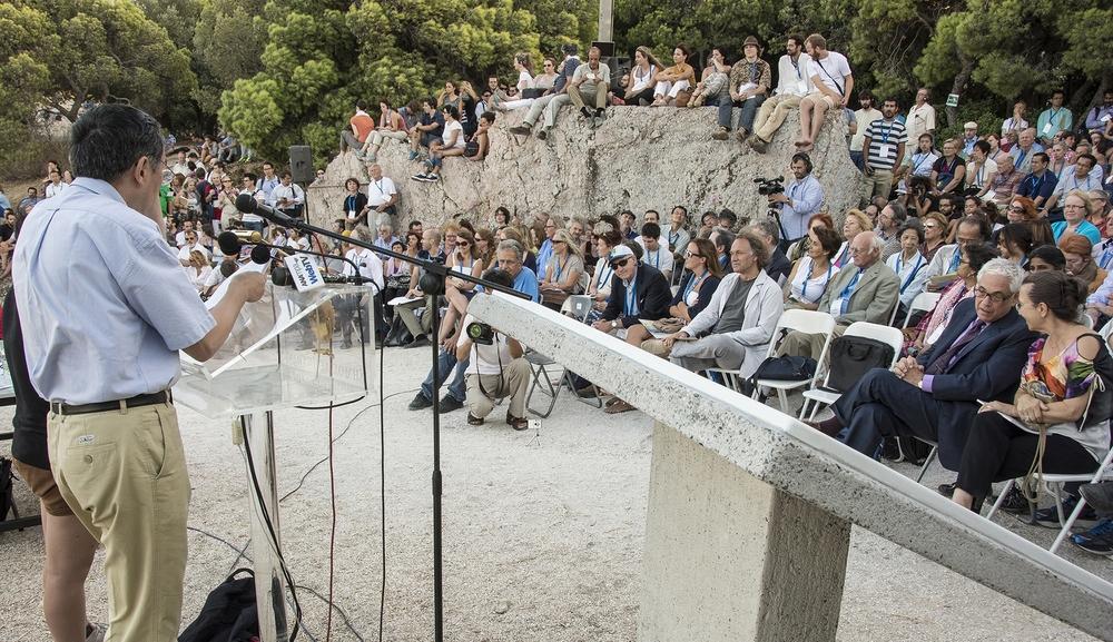 Στιγμιότυποαπό την Ειδική Φιλοσοφική Συνεδρία της Πνύκας του 23ου Παγκοσμίου Συνεδρίου Φιλοσοφίας
