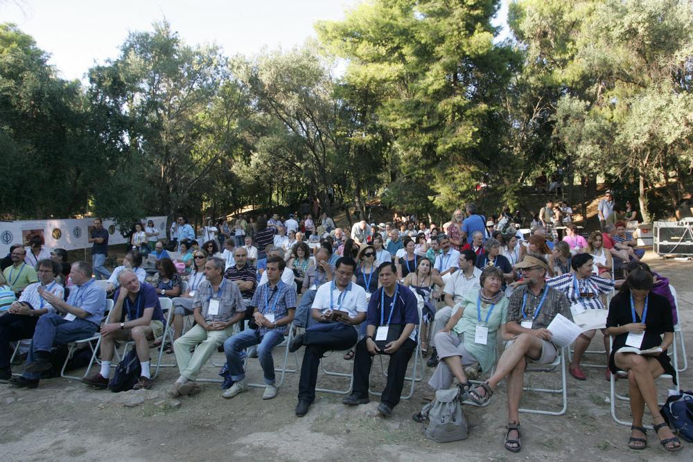 Στιγμιότυπα από την Ειδική Φιλοσοφική Συνεδρία στην Ακαδημία Πλάτωνος κατά το 23ο Παγκόσμιο Συνέδριο Φιλοσοφίας (2013)