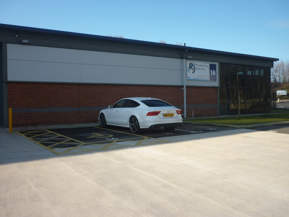 Our showroom and offices in St Helens, Merseyside