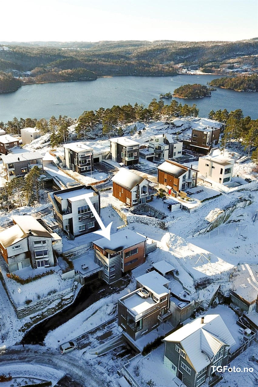 Boligen ligger i et svært barnevennlig område på Justneshalvøya.