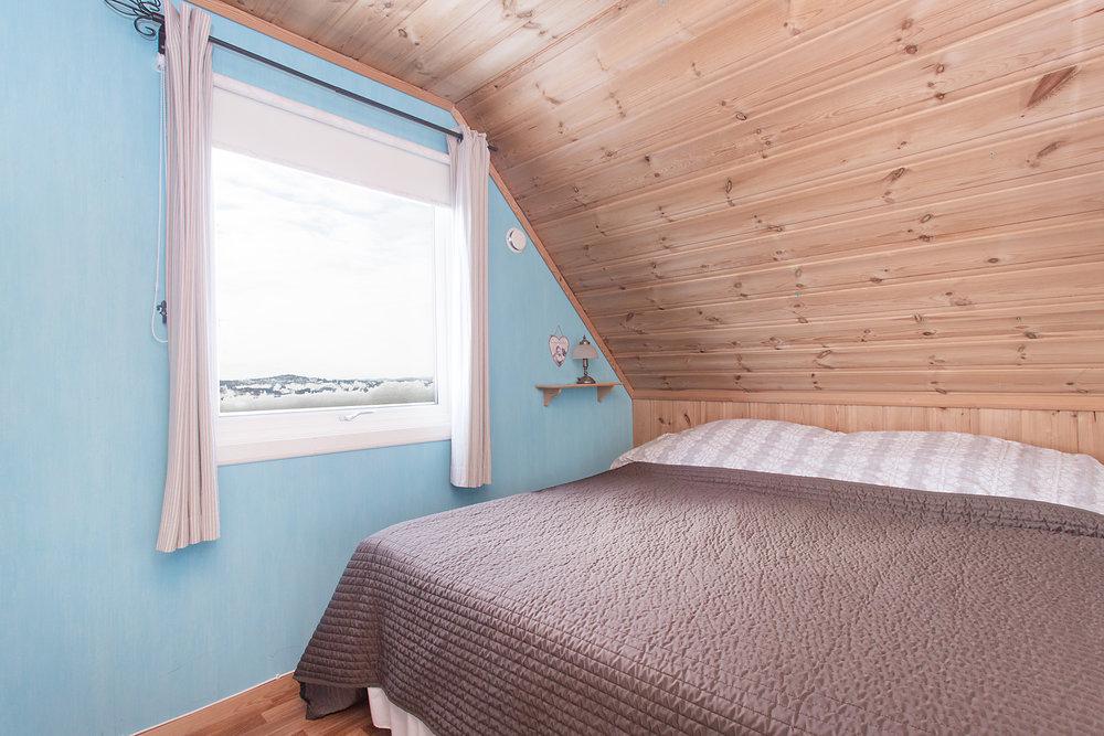 Det er flott utsikt fra alle soverommene.