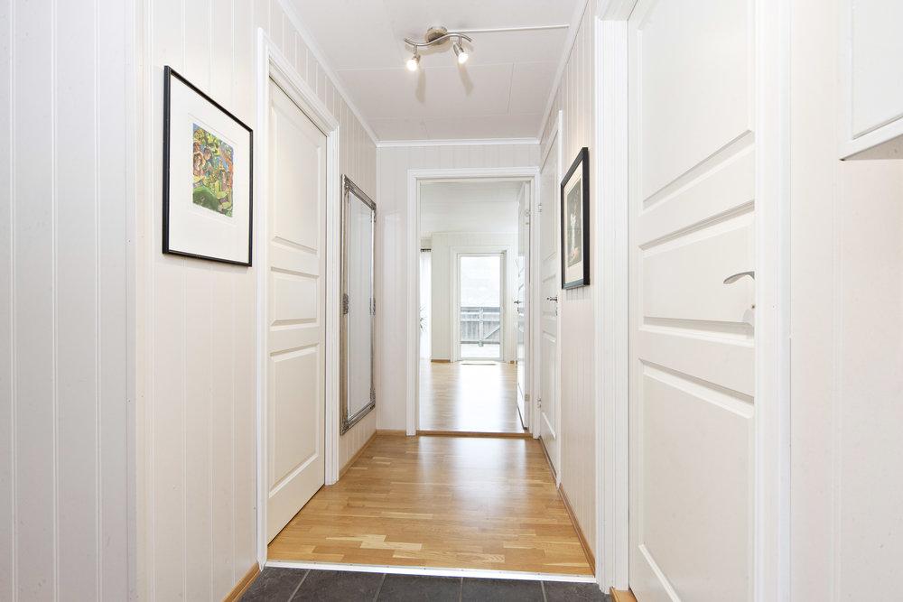 Gangen har inngang til alle leilighetens rom.