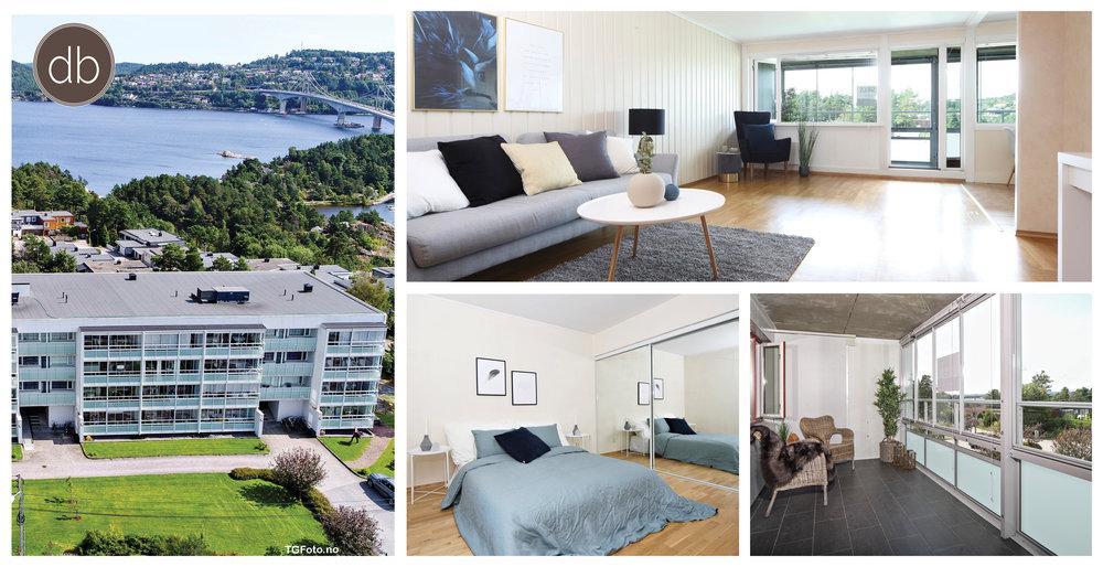Dittboligsalg har gleden av å ønske velkommen til en lys og gjennomgående 4-roms leilighet med flott beliggenhet og utsikt.