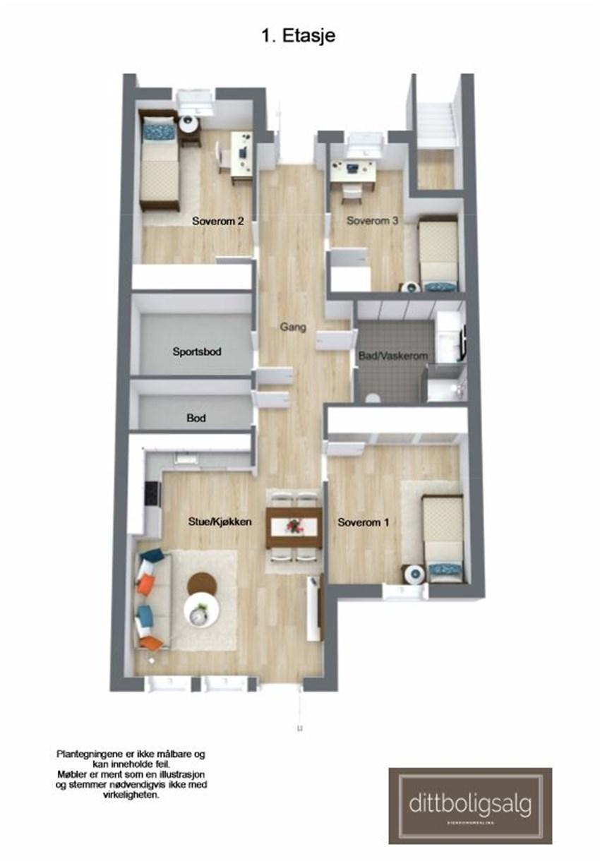 Leilighet 1 - 5 (1. etasje)