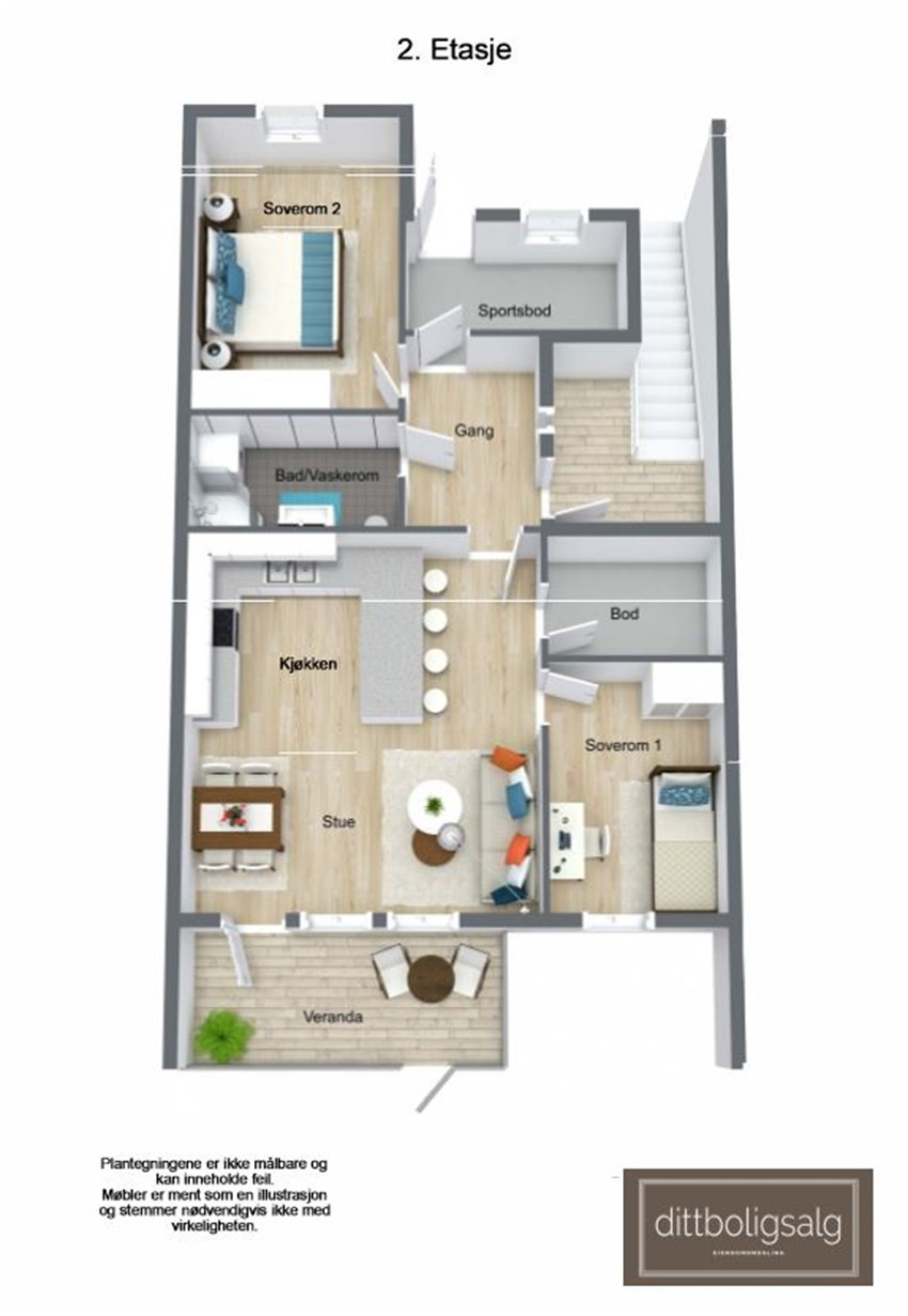 Leilighet 6 - 10 (2. etasje)