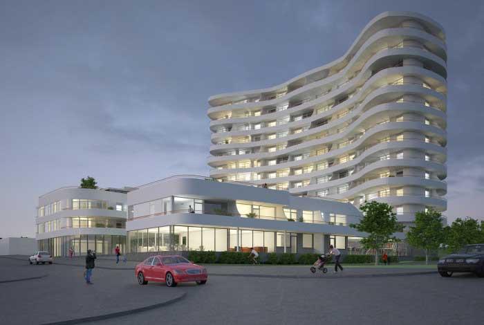 Alla tre hus i Wellingeby rymmer omkring 160 bostäder. I källarvåningen byggs garage och i entréplan finns uthyrningbara lokalersamt föreningens privata gym.