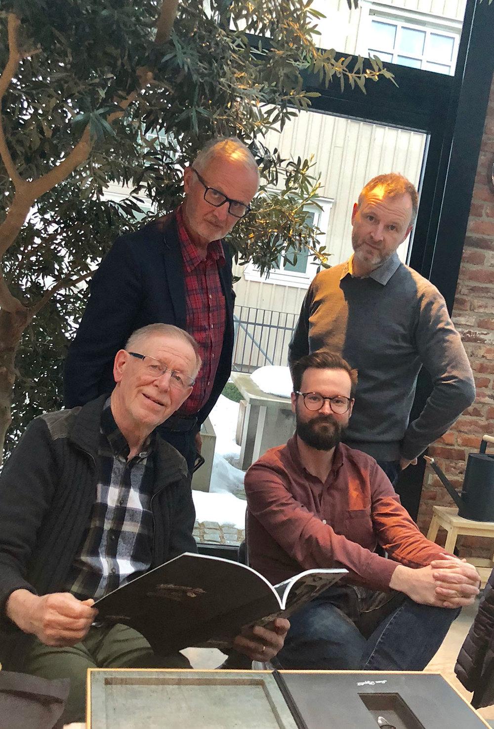 Fyra direktörer. Yngve Håkansson grundade företaget 1968 (under namnet Byggtjänst), Sigvard Ståhl tog över som VD på 70-talet och efter honom följde sönerna Fredrik och nu Viktor som VD.