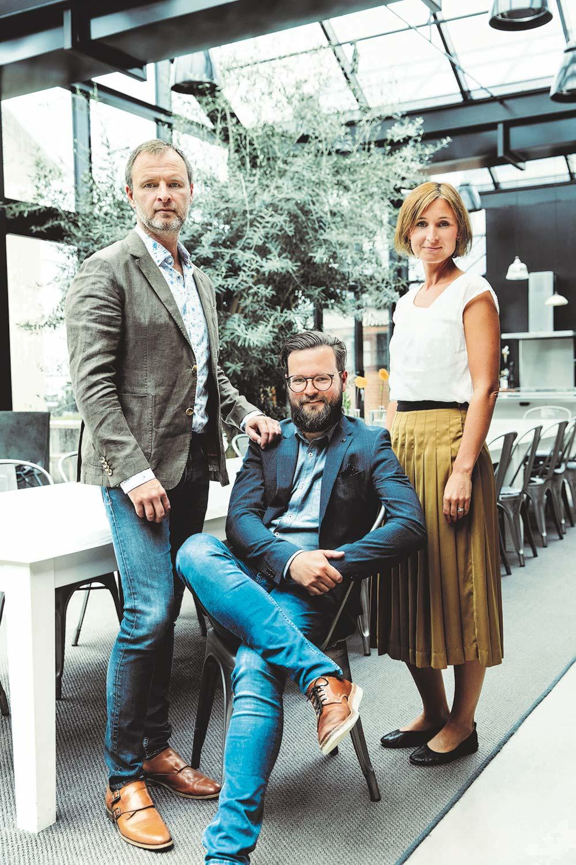 Fredrik, Viktor & Linda Ståhl, nuvarande ägare till Hökerum Bygg.