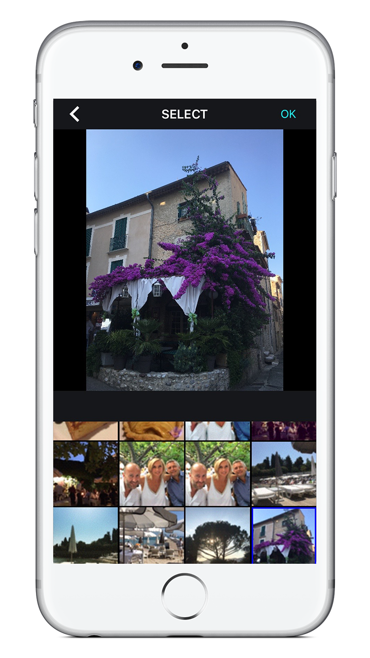 Easy photo picker to select your favourite shots...