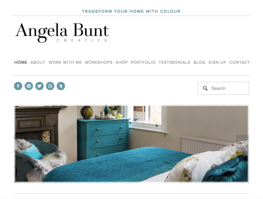 Angela's best work now features at the top of her homepage, allowing visitors to see at a glance what she could do for them.