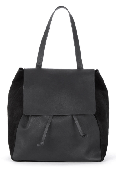 WAREHOUSE LEATHER PANELLED RUCKSACK, £63.20