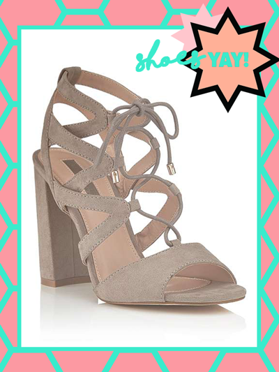 MISS SELFRIDGE STOCKHOLM GHILLIE TIE SANDALS, £45