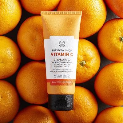 THE BODY SHOP VITAMIN C MICRODERMABRASION,  £15