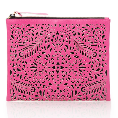 FOREVER 21 LASER-CUT POUCH,  £8