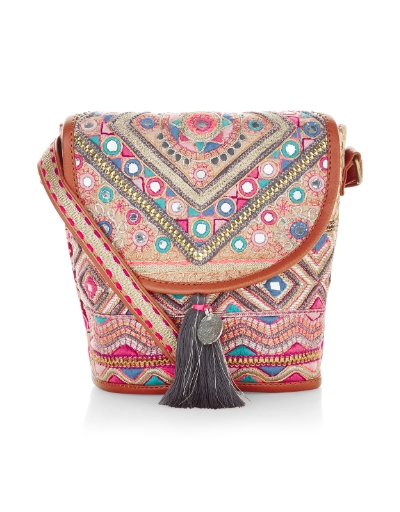 ACCESSORIZE SOUK MIRRORWORK CROSS BODY BAG  , £25