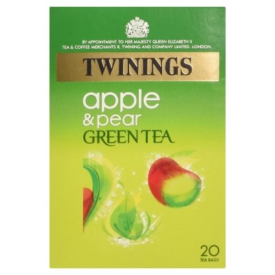 TWININGS APPLE & PEAR GREEN TEA , £1.59