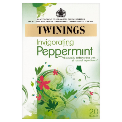 TWININGS PURE PEPPERMINT TEA BAGS,  £1.49
