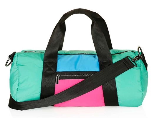 COLOUR BLOCK GYM BAG,  £30
