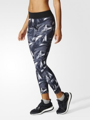 ADIDAS ALLOVER GRAPHIC LONG TIGHTS,  £44.95