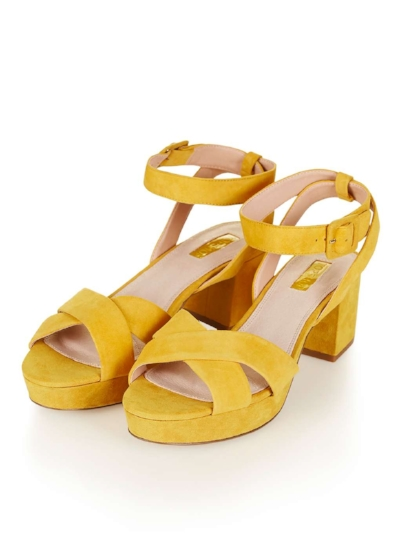 LULU LOW CROSS STRAP PLATFORM SANDALS, £52