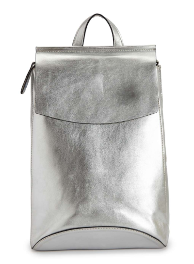 MISS SELFRIDGE SILVER MINIMAL BACKPACK , £30