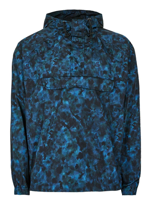 BLUE CAMO LIGHTWEIGHT JACKET,  £55
