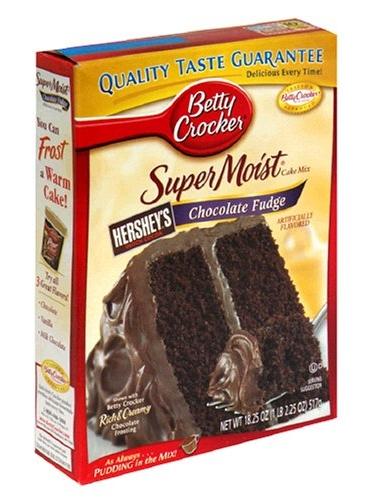 BETTY CROCKER SUPERMOIST CHOCOLATE FUDGE CAKE MIX, £6.69