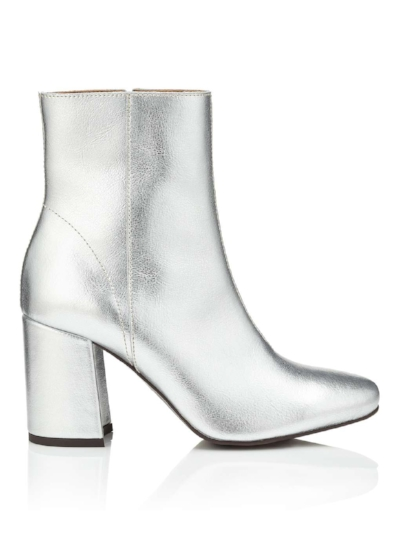 ADONI SILVER LEATHER BOOT, £55