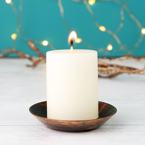 SMALL VANILLA SCENTED PILLAR CANDLE , £3.50