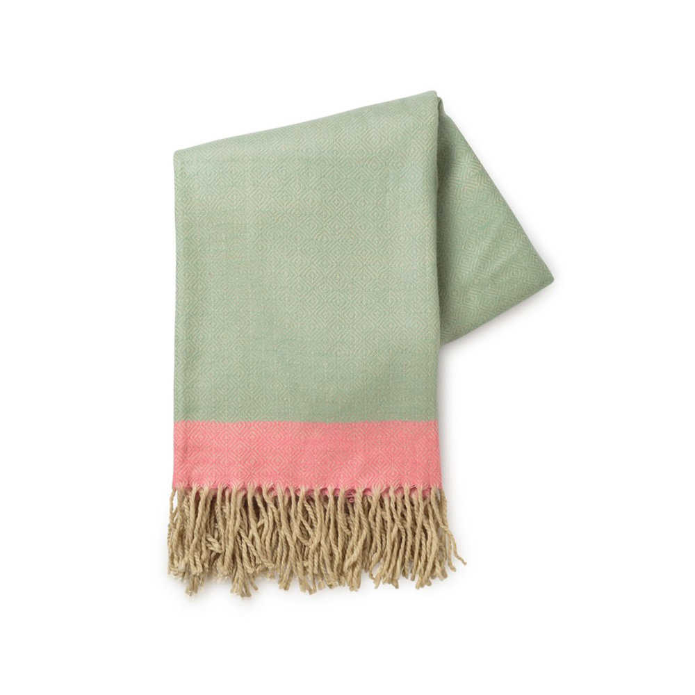 JADE GEO THROW WITH TASSELS,  £30