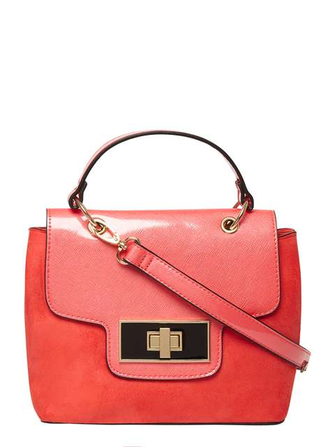 CORAL TOP HANDLE CROSSBODY BAG , £25