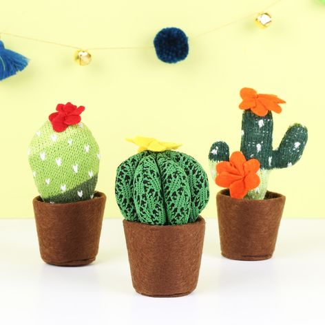 TEMERITY JONES KNITTED CACTUS DECORATION , £5