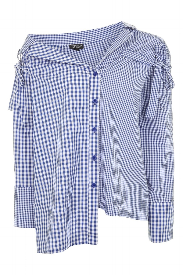 GINGHAM RE-WORKED SHIRT , £34