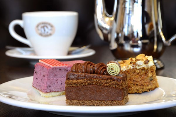Afternoon Tea for Two at Patisserie Valerie with Cake Gift Box, £35