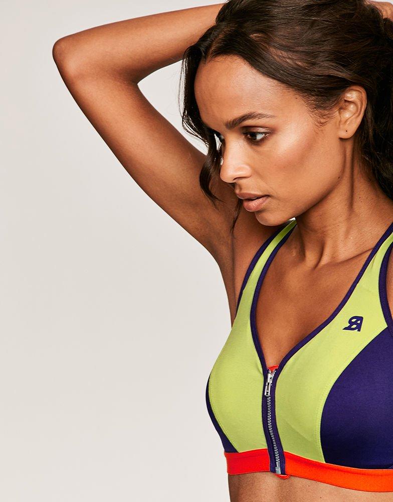 Zipped sports bra, £30