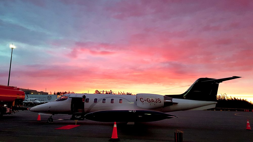 Latitude Aeromedical Works in for the sunrise