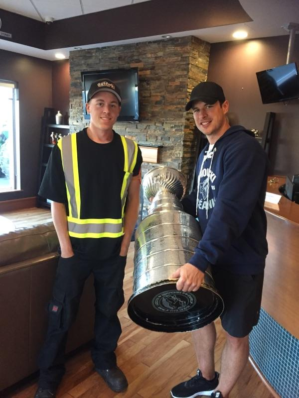Two very special guests that dropped by this summer, Sidney Crosby and Lord Stanley's Cup