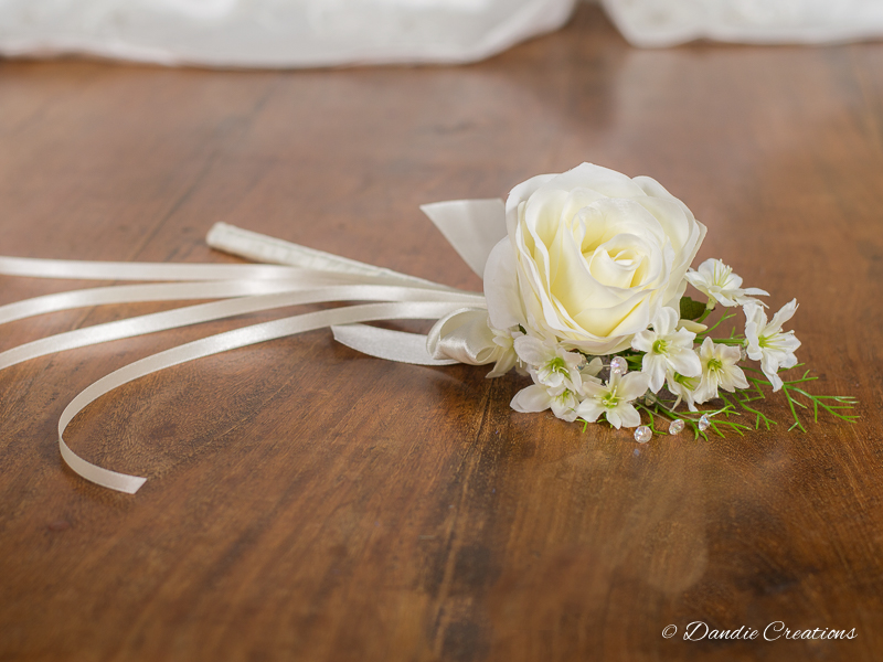 Silk Rose Flower Girl Wand \