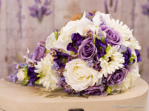 Mixed silk flower bridal teardrop bouquet in purple lilac molly mixed silk flower bridal teardrop bouquet in purple lilac molly collection mightylinksfo