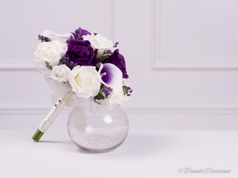 Lilac Calla Lily Purple Rose Bridesmaids Bouquet Zara Collection