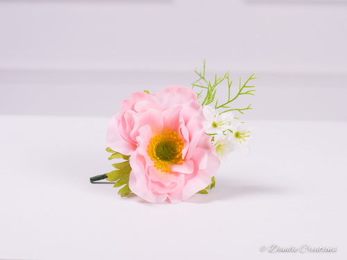 Silk anemone buttonhole bella collection dandie creations silk anemone buttonhole bella collection mightylinksfo