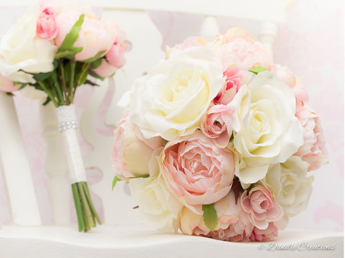 Silk bouquets wedding flowers dandie creations penny bridal posy bouquet 1 of 1g mightylinksfo