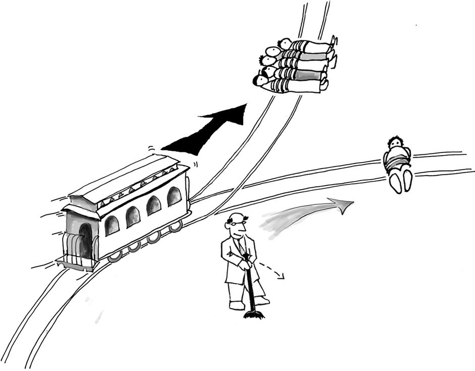 If Maria had her way, several people would perish during the trolley problem.