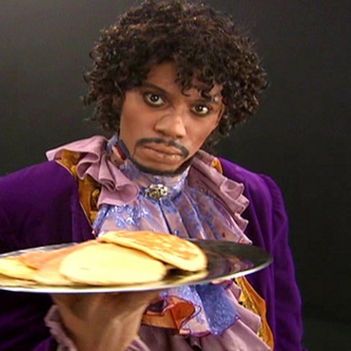An exact likeness of Prince Rodgers Nelson during his pancake phase.
