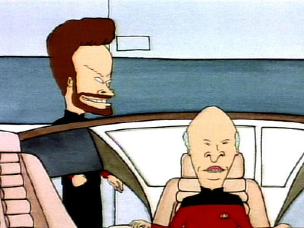 Beavis and Butthead, absolute shoe-ins for a reboot of Star Trek Next Generation