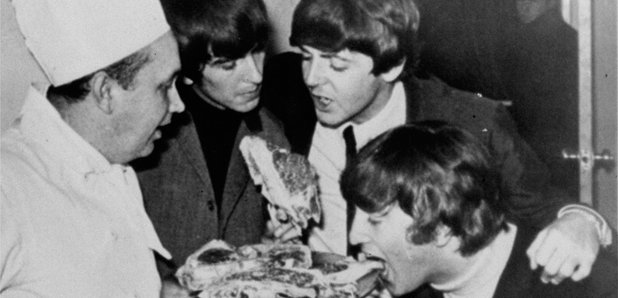 "Exactly 10 minutes before the Beatles recorded ""All you need is love"" the Beatles had a meal according to Maria"