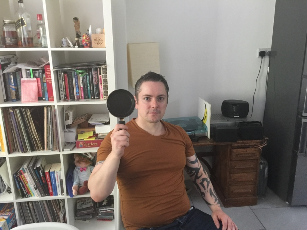Gary with the worlds smallest frying pan yesterday