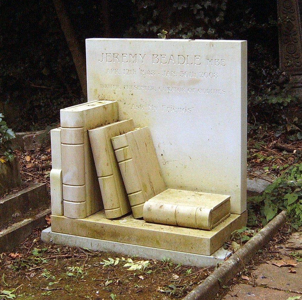 Jeremy Beadle's grave