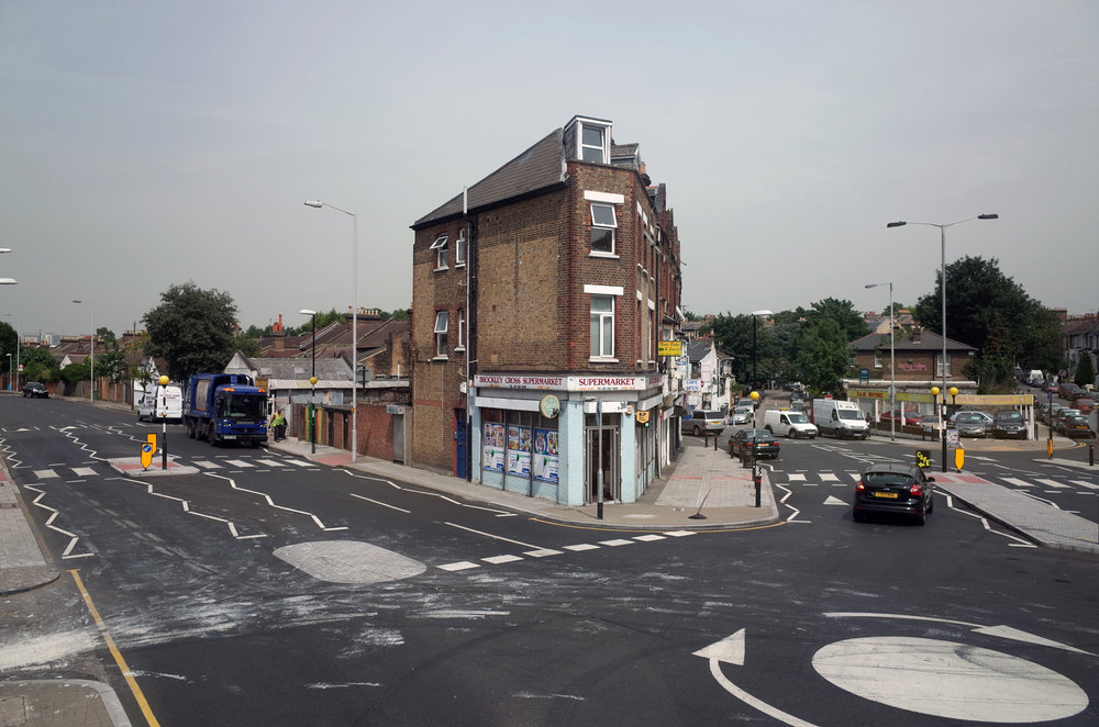 Brockley cross- This innocuous looking piece of road is a pedestrian death trap according to Pete
